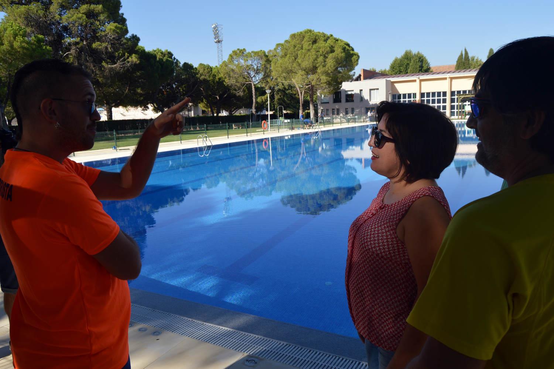 Primeros ba os en la nueva piscina ol mpica del for Piscina arganda del rey