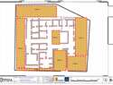 Figura 2. Planta de las estructuras del palacio romano bajoimperial que serán sometidas a excavar en 7 cortes  (OPPIDA. 2019)