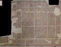 Figura 8. Mosaico Geométrico del Ambiente 1 descubierto en 1973 que se exhibe en la Casa de la Cultura de Albaladejo. (OPPIDA. 2016)