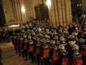 Multitudinaria Procesión del Silencio en una noche fría, pero sin lluvia, de Viernes Santo en Sigüenza