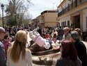 Los argamasilleros despiden la Semana de Pasión con el manteo del pelele