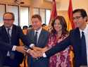 Zamora y García-Page firman el acuerdo de cesión  de los terrenos junto al edificio de Sanidad  para construir jardines de uso público