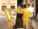 Medio centenar de artistas participaron en el XIX Certamen Nacional de Pintura Rápida Nocturna de Alcázar