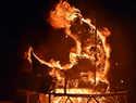 La lluvia respeta y Doña Sardina es pasto de las llamas en la Plaza Mayor de Ciudad Real