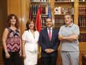 El presidente de las Cortes de CLM recibe a representantes del CERMI