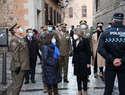 La alcaldesa y la ministra de Defensa agradecen al Ejército de Tierra su intervención en la ciudad tras el temporal 'Filomena'