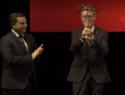 """El alcalde de Albacete acompaña al presidente de Asprona en la recogida del premio """"Tauromaquia y solidaridad"""", en el marco de la Gala San Isidro 2019"""