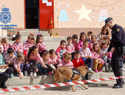 Exhibición de Guías Caninos de la Policía Nacional en el Colegio Alfonso VI de Toledo