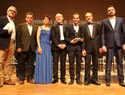 El alcalde de Albacete felicita a Javier Artés por su composición 'Aceros de Albacete' que pondrá música a la poesía de Francisco Jiménez Carretero en el Himno a la cuchillería de Albacete