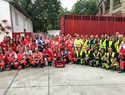 Cruz Roja Almodóvar perfecciona en Pamplona sus protocolos y dispositivos de Encierros