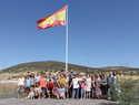 Colocada de nuevo la bandera de España que había desaparecido en Villamayor de Calatrava el pasado sábado