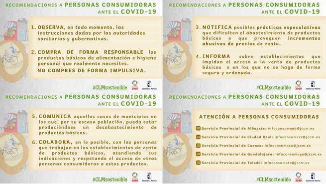 La OMIC de Alcázar ofrece recomendaciones ante el COVID-19