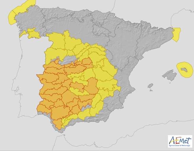 Previsión meteorológica para este martes en Castilla-La Mancha: suben las mínimas y las máximas superan los 40 grados