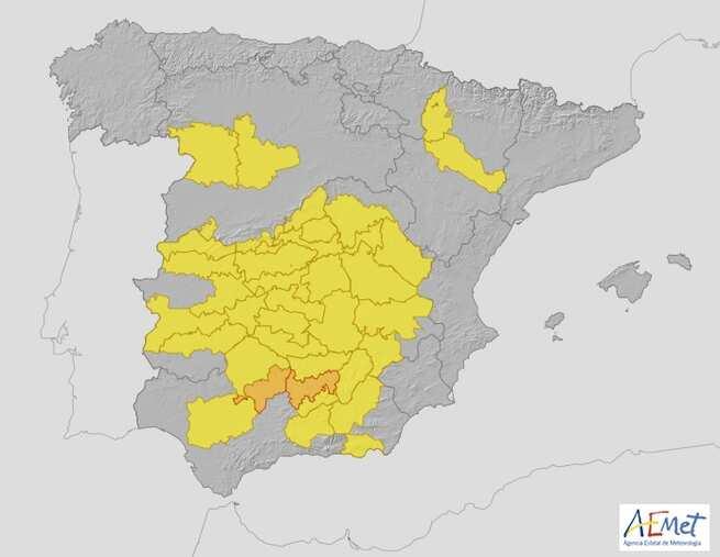 Mañana martes estará toda Castilla-La Mancha en alerta amarilla por altas temperaturas