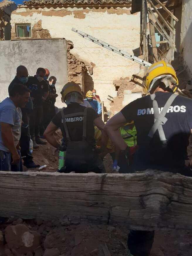 Muere un trabajador al derrumbarse un muro en Moral de Calatrava (Ciudad Real)