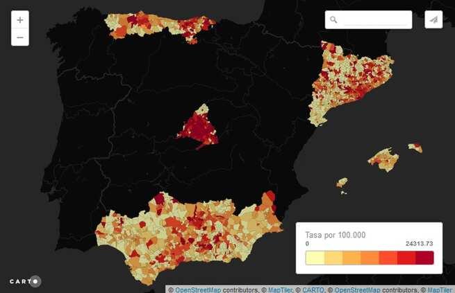 La evolución del coronavirus en España