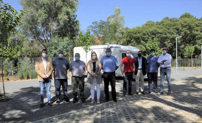 La Diputación promueve servicios de calidad para autocaravanistas en pleno Parque Natural de Sierra Madrona y Valle de Alcudia