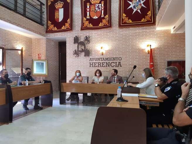 Subdelegación de Ciudad Real  y Ayuntamiento de Herencia cierran el  protocolo de seguridad para los actos festivos con motivo de La Merced