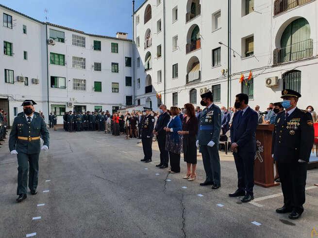 El presidente de la Diputación de Ciudad Real asiste a los actos con motivo de la Festividad de la Patrona de la Guardia Civil