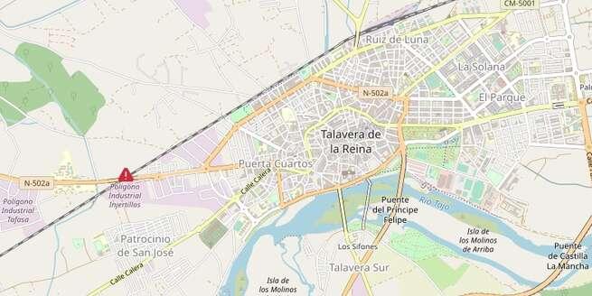Fallece un trabajador tra ser golpeado por una máquina en un taller de Talavera