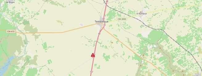 Fallece un hombre tras salirse de la vía su vehículo en la A-4 a su paso por Tembleque