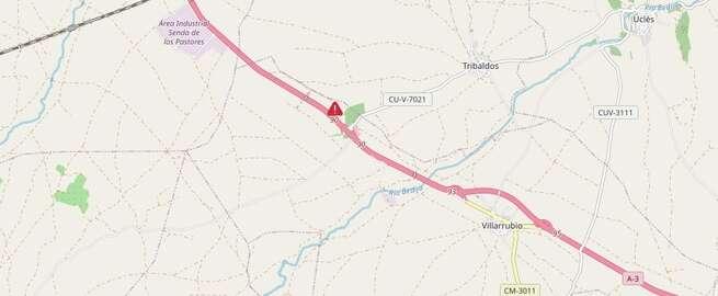 Fallece un hombre tras colisionar por alcance dos camiones en Villarrubio (Cuenca)