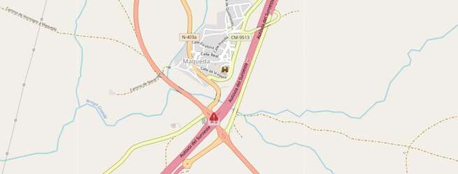 Fallece una persona tras salirse de la vía con su vehículo en Maqueda (Toledo)