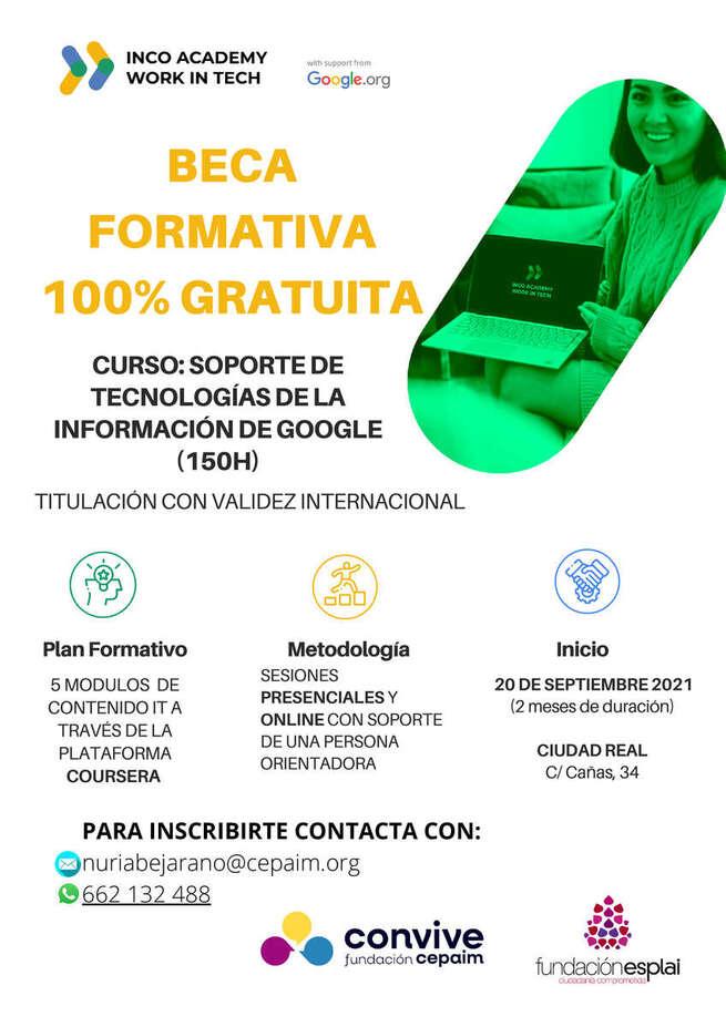 Ofretadas en Miguelturra doce plazas para el curso de 'Tecnologías de la Información de Google'