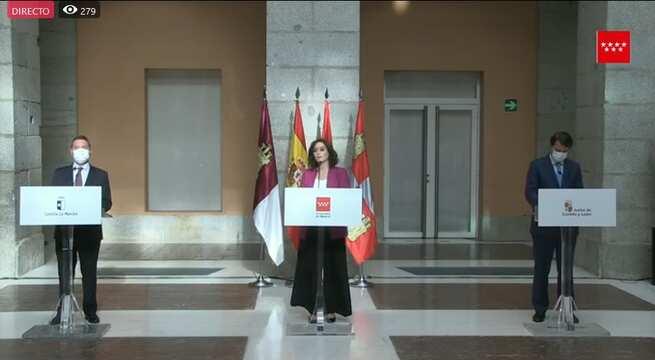 (Directo) prsidentes autonómicos de la Comunidad de Madrid, Castilla-La Mancha, y Castilla y León