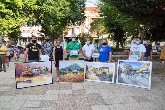 """El aldeano Feliciano Moya Alcaide se alza con el primer premio del V Certamen de Pintura Rápida """"Villa de Pozuelo de Calatrava"""""""