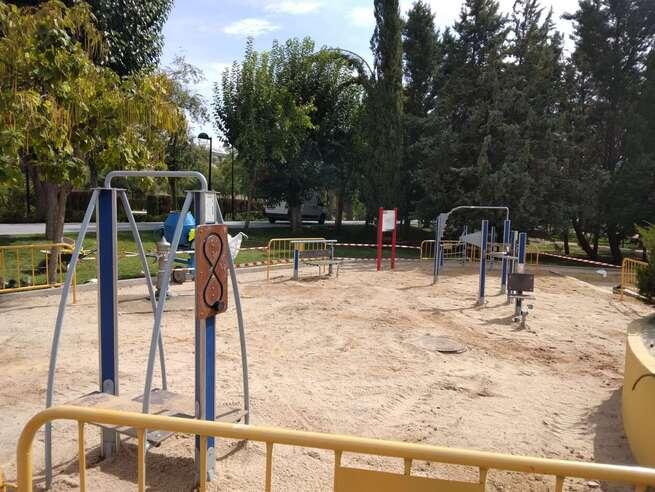 Mejorada en Toledo el área de elementos biosaludables del Parque de las Tres Culturas con una nueva ubicación