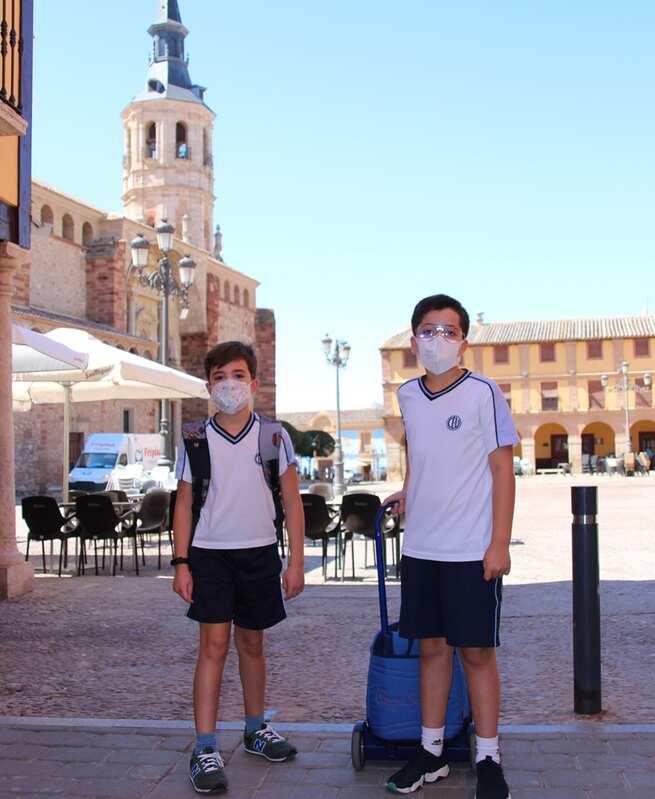"""Evaristo y Gabriel: """"teníamos muchas ganas de volver al cole"""""""
