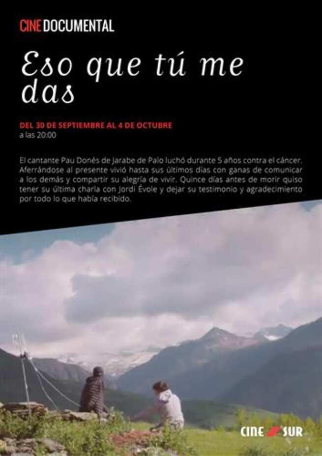 El documental 'Eso que tú me das' sobre Pau Donés se proyectará en Toledo en Cinesur 'Luz del Tajo'