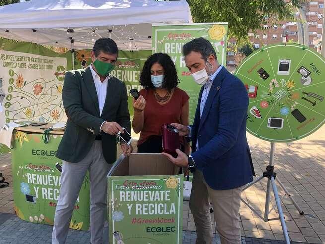 El Gobierno de Castilla-La Mancha hace un llamamiento a la ciudadanía para seguir reutilizando y valorizando los residuos de aparatos eléctricos y electrónicos
