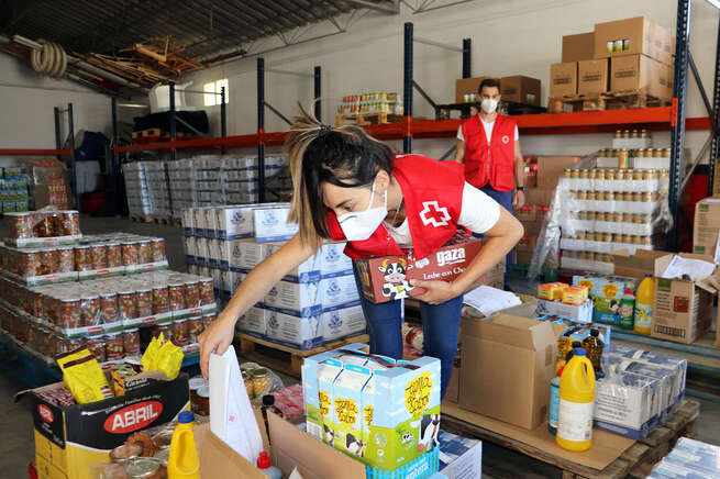 Cruz Roja reparte en la provincia de Ciudad Real más de 213.000 kilos de alimentos a 6.412 personas