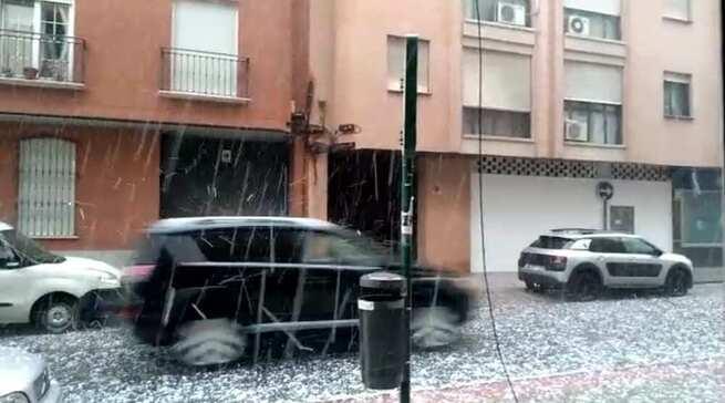 Ciudad Real evalúa los daños causados por la granizada y tromba de agua caída en la tarde-noche de ayer
