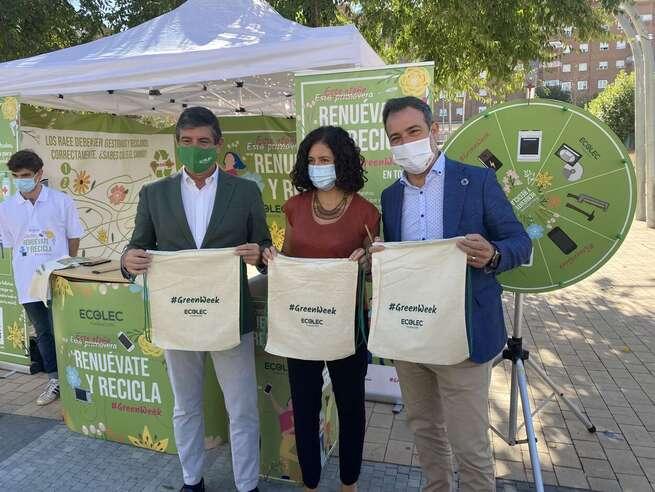 Toledo se suma a la #GreenWeek21 para fomentar el reciclaje y posterior reutilización de aparatos electrónicos y eléctricos