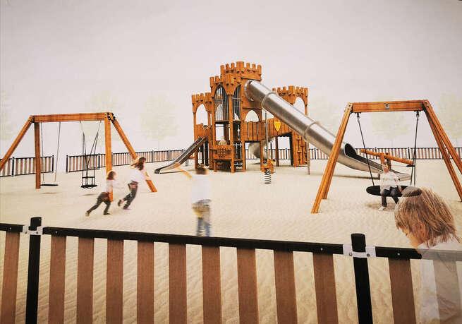 El parque de La Quebradilla de Azuqueca contará con un nuevo espacio infantil con forma de fortaleza