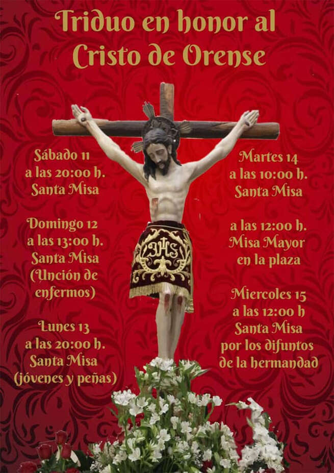 Brazatortas celebra desde este lunes sus Fiestas Patronales en honor al Santísimo Cristo de Orense