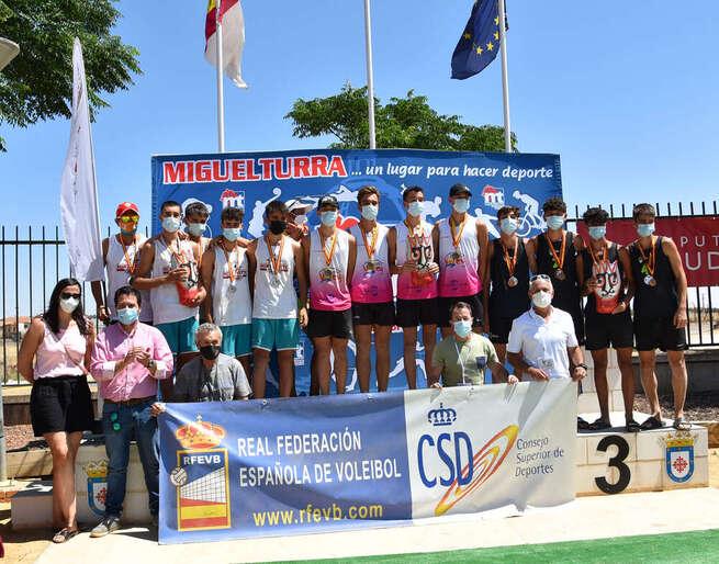 Miguelturra clausuró el Campeonato de España de Vóley Playa de clubes en categoría cadete masculino