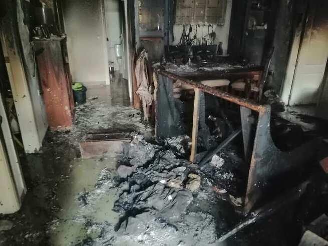 Cuatro personas afectadas por inhalación de humo en un incendio de una vivienda en Puertollano