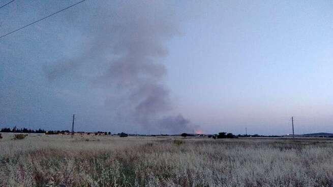 Declarado un incendio en zona agrícuola de Corral de Calatrava