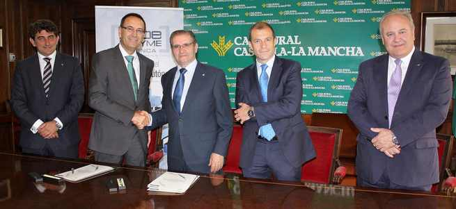 Gómez Mora y Sarrión con Miguel Ángel Escalante, Ángel Mayordomo e Higinio Prior