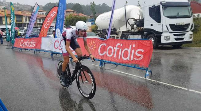 El valdepeñero Fernando Tercero, a seis segundos del podio en la crono de los Campeonatos de España