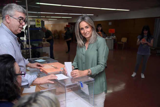 """Milagros Tolón afronta la jornada electoral del 26-M con """"tranquilidad"""" y confía en una participación histórica"""