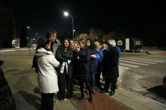 La alcaldesa de Toledo destaca el ahorro energético en la iluminación de Valdemarías y anuncia la renovación en el Poblado Obrero