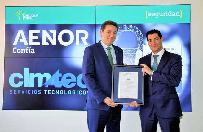 CLMTEC, del Grupo Eurocaja Rural, recibe la certificación del Esquema Nacional de Seguridad (ENS) por la calidad y seguridad de sus sistemas de información