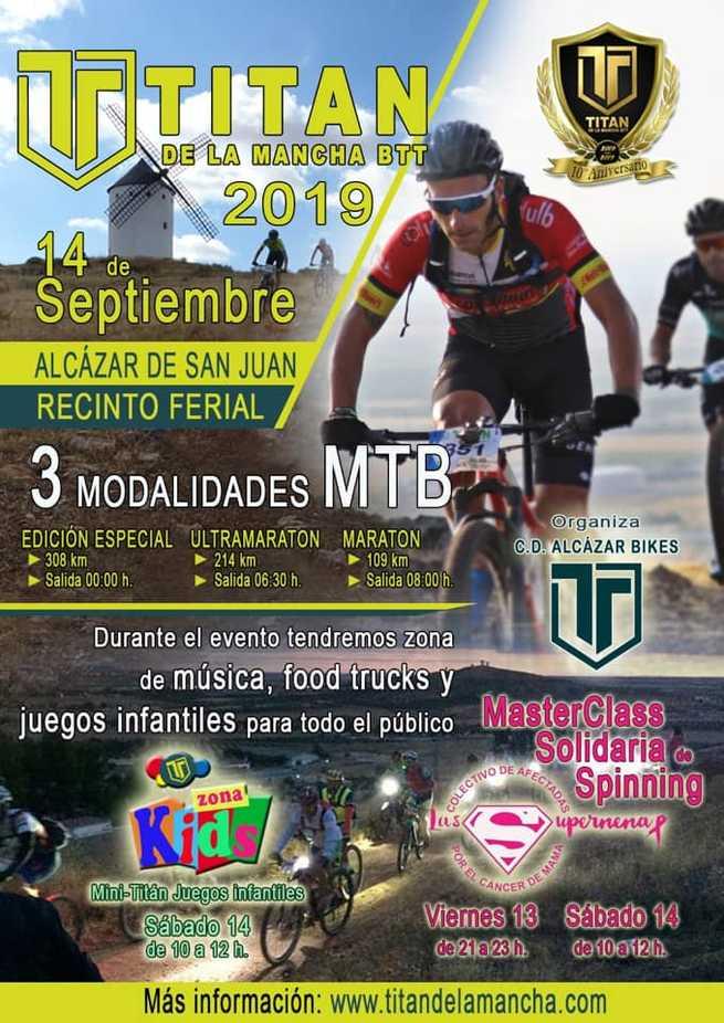 Más de 2.600 ciclistas se sumarán a la décima edición de la Titán de La Mancha BTT en Alcázar de San Juan