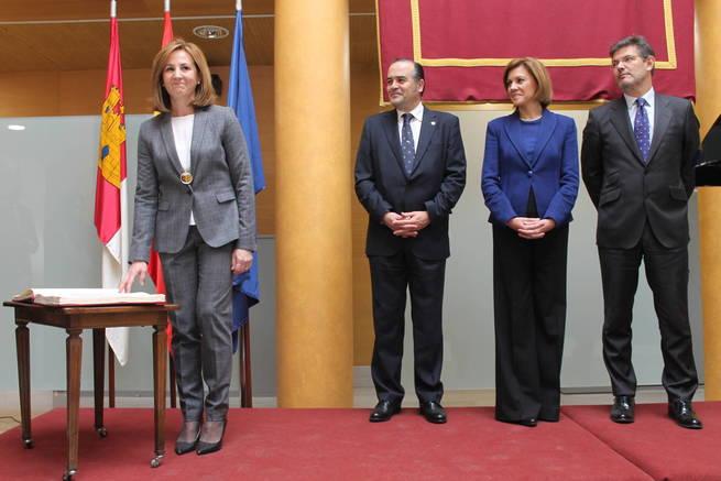 Acto de toma de posesión de la subdelegada del Gobierno en Cuenca, María Lidón Lozano