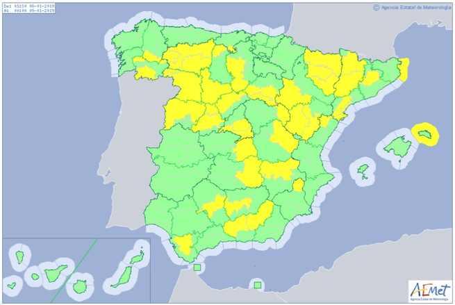 Aviso por bajas temperaturas en gran parte de Castilla-La Mancha